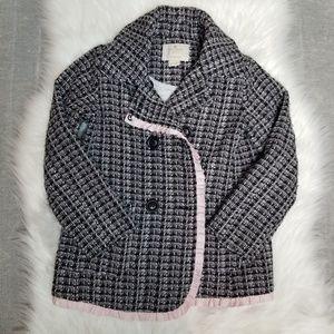 Kate Spade - Kids Tweed Ribbon Trim Coat